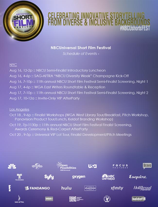 NBCU Fest Schedule
